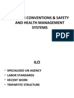 ILO OSH CONVENTIONS AND SAFETY AND HEALTH MANAGEMENT SYSTEMS
