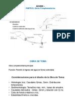 U6D. Azudes - Obras Complementarias