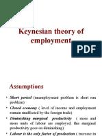 Keynesian theory of employment