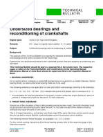 WS S20 Undersized bearings and reconditioning of crankshafts TB00-3101-01