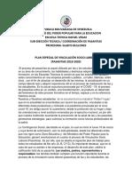 PLAN ESPECIAL PASANTIAS 2019-2020