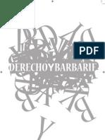 Revista Derecho y Barbarie Derecho y Barbarie 1