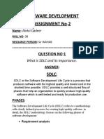SOFTWARE DEVELOPMENT Quiz 2.docx