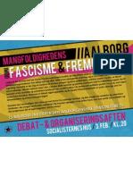 Plakat for møde om anti-Fascisme - LS-Aalborg