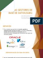 5. SISTEMAS GESTORES DE BASE DE DATOS