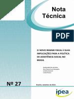 O NOVO REGIME FISCAL E SUAS IMPLICAÇÕES PARA A POLÍTICA DE ASSISTÊNCIA SOCIAL NO BRASIL