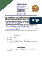 City Council Agenda November 3, 2020