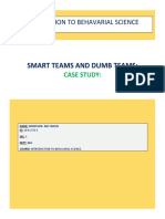 CASE STUDY- Smart teams and Dumbs teams.