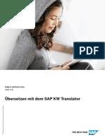 Übersetzen mit dem SAP KW Translator