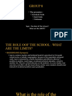 THE ROLES OF THE SCHOOL