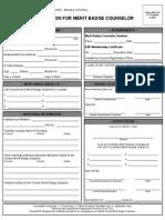 Merit Badge Counselor Application Form