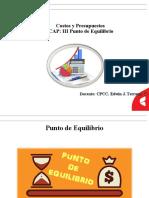 CAP. III PUNTO DE EQUILIBRIO