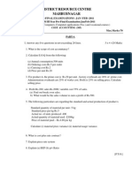 cost accounting  B.Com III year