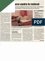 Article du journal Le Courrier Picard du 15 janvier 2011