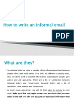 How to write an informal email_hwk 5 11 2020