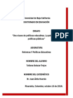 ENSAYO DOS CLASES DE POLITICAS EDUCATIVAS LA POLITICA DE LAS POLITICAS PUBLICAS.pdf