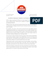Rep. Joe Moody's Speaker Announcement
