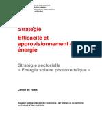 Stratégie sectorielle Energie solaire photovoltaïque