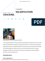 Defects - Solidification Cracking - TWI