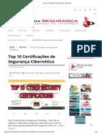 _Top 10 Certificações de Segurança Cibernética