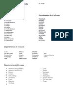 Departamentos de centroamerica sin imagenes