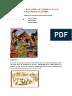 PRINCIPALES FAMILIAS INDIGENAS QUE POBLARON COLOMBIA