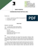 Brief Peserta Commuval 2011