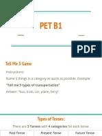 PET B1 31st October