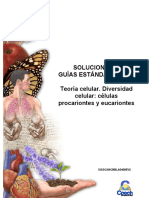 Solucionario Guía Teoría celular. Diversidad celular células procariontes y eucariontes