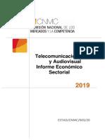 Telecomunicaciones y Audivisual Informe Económico Sectorial