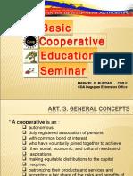 Basic Education Seminar for Cooperatives