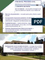 Power Point, LAS PARTES EN EL PROCESO CIVIL