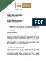 Ponencia Codigo Electoral Comisiones Primeras Conjuntas Cámara Senado.