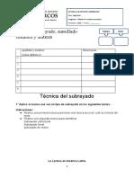 Ficha de Apuntes y Subrayados