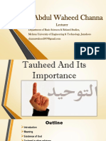 Tauheed and its importance.pdf