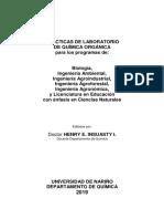 PRACTICAS DE ORGANICA GENERAL -UDENAR 2019 biol, ing y educ
