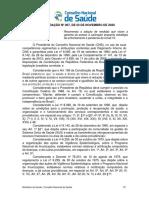 Recomendação do CNS para vacinas contra covid-19