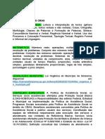 CONTEÚDO CONCURSO COORDENADOR DO CRAS