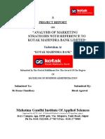 project report on kotak mahindra bank