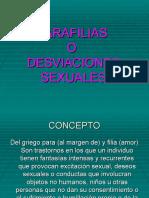 SEXUALIDAD PARAFILIAS Y DESVIACIONES SEXUALES