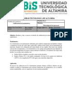 PROCEDIMIENTO DE CALIBRACIÓN DE TERMOMETROS