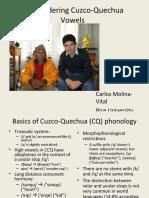 Reconsidering Cuzco-Quechua Vowels