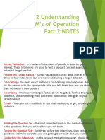 Lesson 12 Understanding the 4M's of Operation Part 2 NOTES