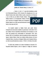 El primer pedido de ÔÇ£Flecha Veloz, S. A. de C. V.ÔÇØ
