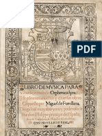 FUENLLANA, Miguel de • LIBRO DE MVSICA para Vihuela, intitulado Orphenica lyra (Sevilla, 1554) (facsimile music source)