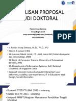Proposal Studi Doktoral-PIS