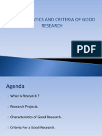 characteristics and criteria of goodresearch