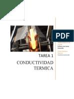 Tarea 1 Conductividad térmica TC