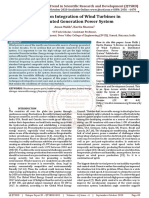 A Review on Integration of Wind Turbines in Distributed Generation Power System