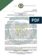 Solicitare sprijin FSANP - elaborare criterii acordare majorare de până la 50 pentru lucrări de excepție sau misiuni speciale